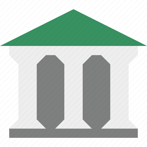 bank, banking, building, business, finance, money icon