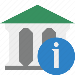 bank, banking, building, business, finance, information, money icon
