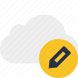 cloud, edit, network, storage, weather icon