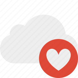 cloud, favorites, network, storage, weather icon