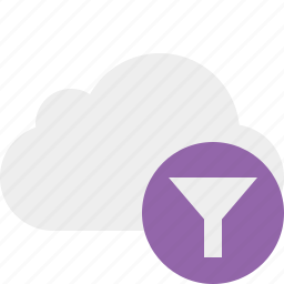 cloud, filter, network, storage, weather icon