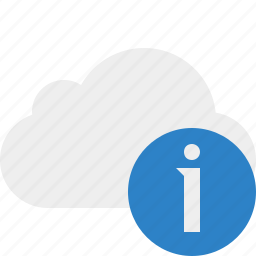 cloud, information, network, storage, weather icon