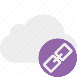 cloud, link, network, storage, weather icon