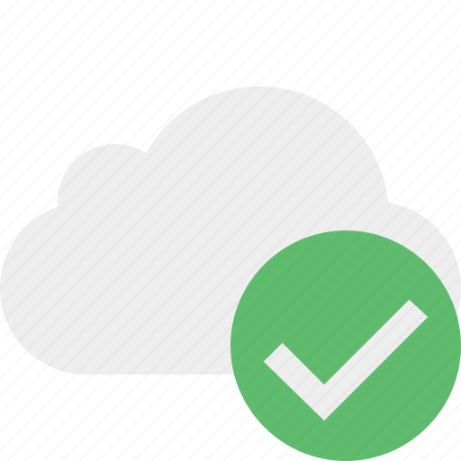 cloud, network, ok, storage, weather icon