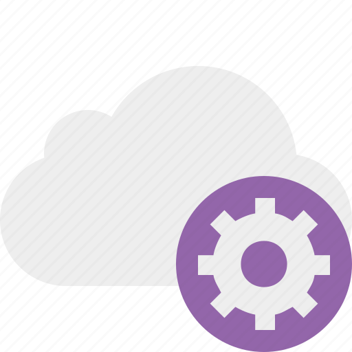 cloud, network, settings, storage, weather icon