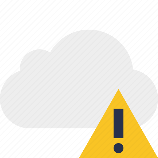 cloud, network, storage, warning, weather icon