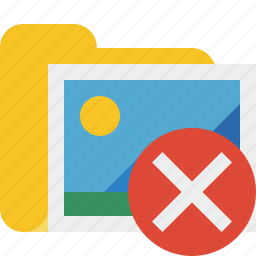 cancel, folder, gallery, images, media, pictures icon