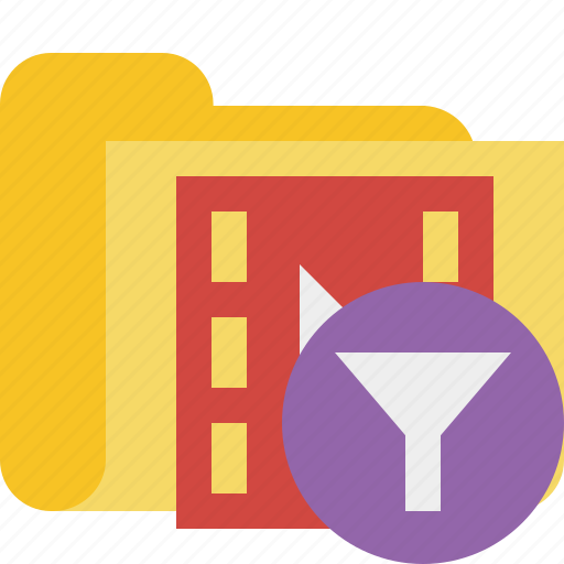 film, filter, folder, media, movie, video icon