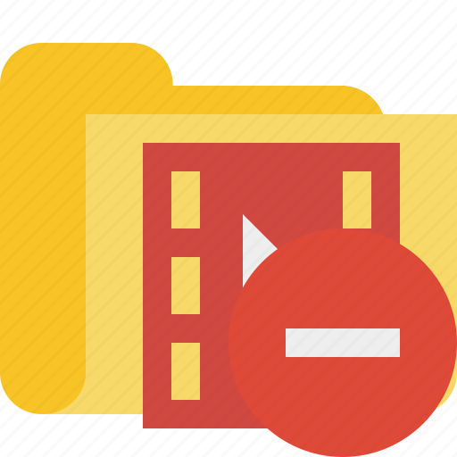 film, folder, media, movie, stop, video icon