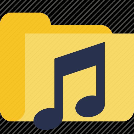 audio, folder, media, music, songs icon