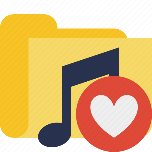 audio, favorites, folder, media, music, songs icon