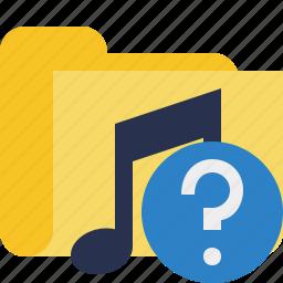 audio, folder, help, media, music, songs icon