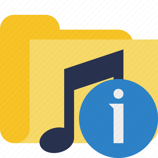 audio, folder, information, media, music, songs icon