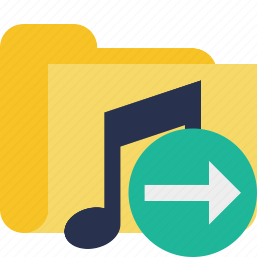 audio, folder, media, music, next, songs icon