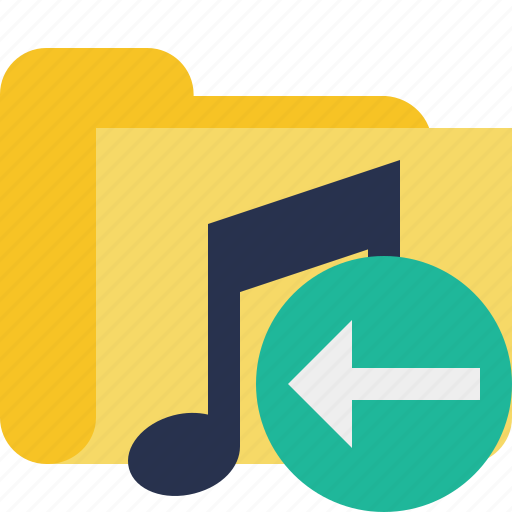 audio, folder, media, music, previous, songs icon