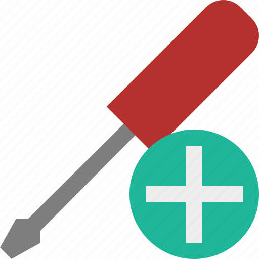 add, repair, screwdriver, tool, tools icon