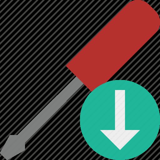 download, repair, screwdriver, tool, tools icon