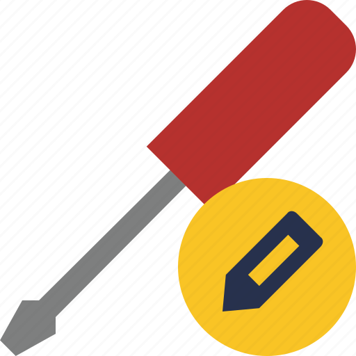 edit, repair, screwdriver, tool, tools icon