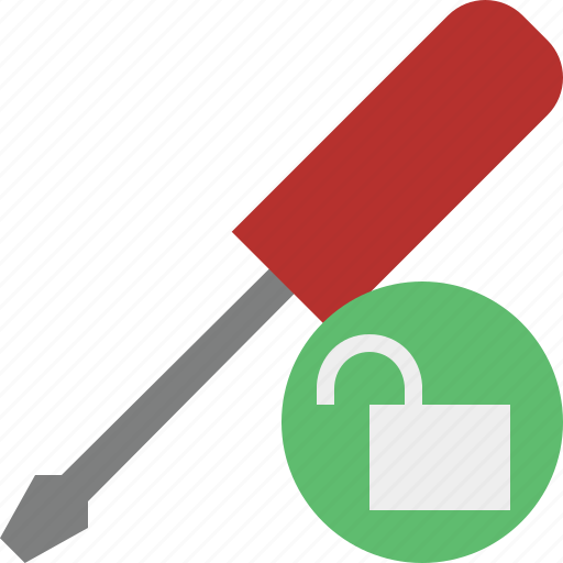 repair, screwdriver, tool, tools, unlock icon