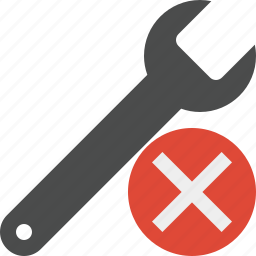 cancel, repair, spanner, tool, wrench icon