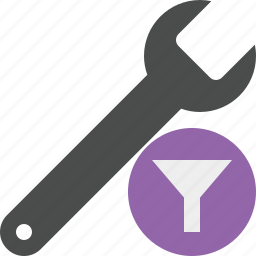 filter, repair, spanner, tool, wrench icon