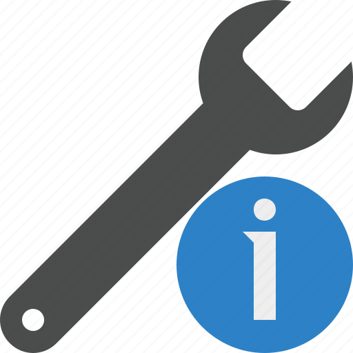 information, repair, spanner, tool, wrench icon