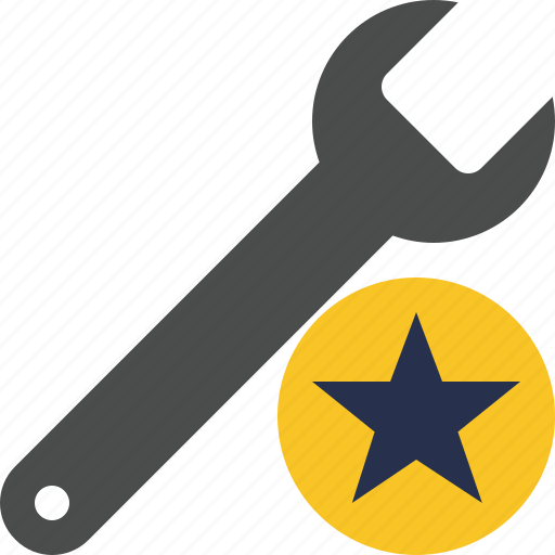 repair, spanner, star, tool, wrench icon