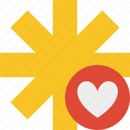asterisk, favorites, password, pharmacy, star, yellow icon