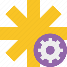 asterisk, password, pharmacy, settings, star, yellow icon