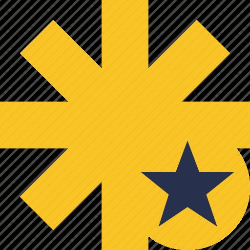 asterisk, password, pharmacy, star, yellow icon