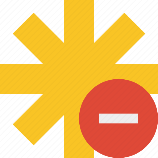 asterisk, password, pharmacy, star, stop, yellow icon