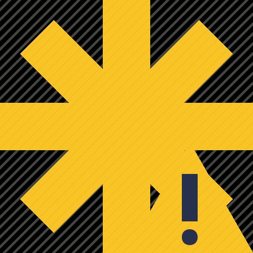 asterisk, password, pharmacy, star, warning, yellow icon