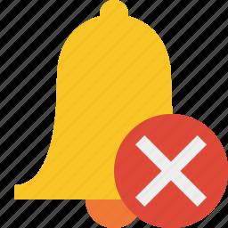 alarm, alert, bell, cancel, christmas, notification icon