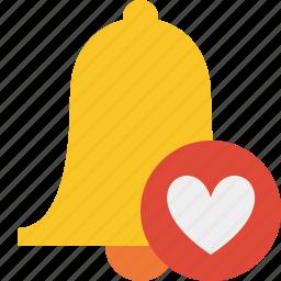 alarm, alert, bell, christmas, favorites, notification icon