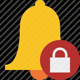 alarm, alert, bell, christmas, lock, notification icon