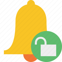 alarm, alert, bell, christmas, notification, unlock icon