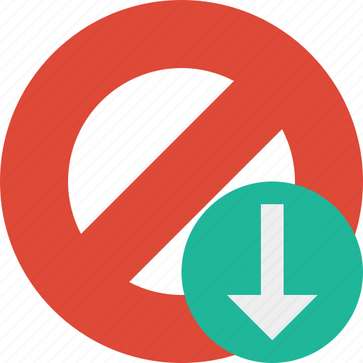 block, cancel, download, lock, stop icon