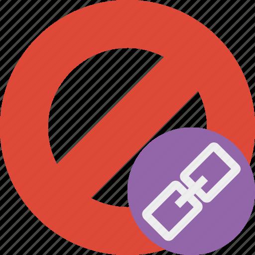 block, cancel, link, lock, stop icon