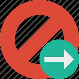 block, cancel, lock, next, stop icon