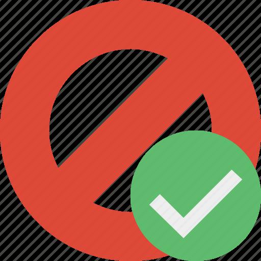 block, cancel, lock, ok, stop icon