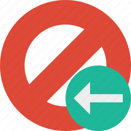block, cancel, lock, previous, stop icon