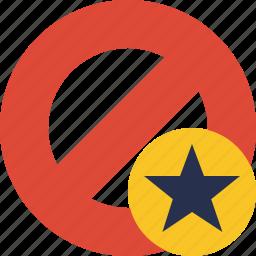 block, cancel, lock, star, stop icon