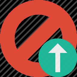 block, cancel, lock, stop, upload icon