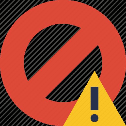 block, cancel, lock, stop, warning icon