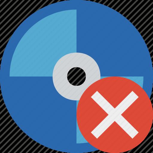 bluray, cancel, compact, digital, disc, disk, dvd, media icon