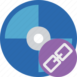 bluray, compact, digital, disc, disk, dvd, link, media icon