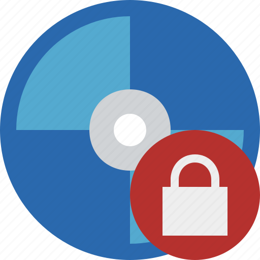 bluray, compact, digital, disc, disk, dvd, lock, media icon