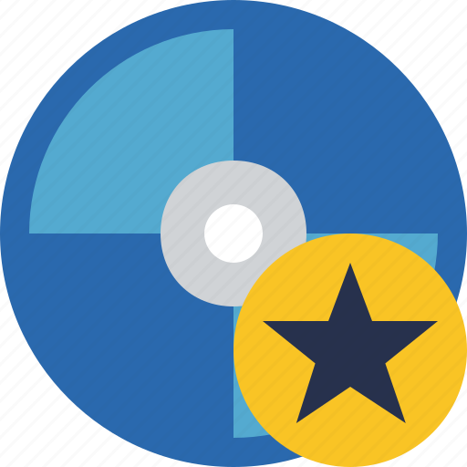 bluray, compact, digital, disc, disk, dvd, media, star icon
