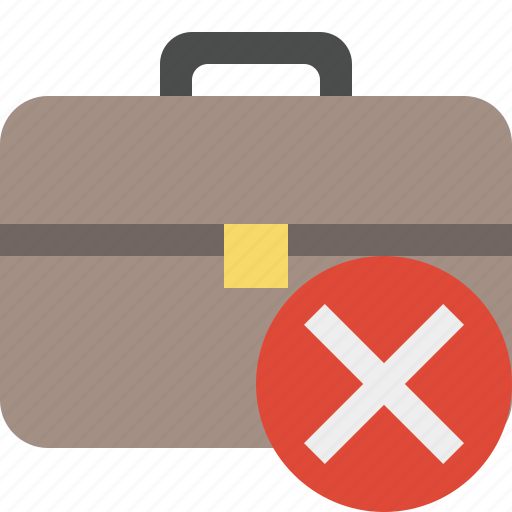 bag, briefcase, business, cancel, portfolio, suitcase, work icon