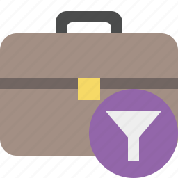 bag, briefcase, business, filter, portfolio, suitcase, work icon